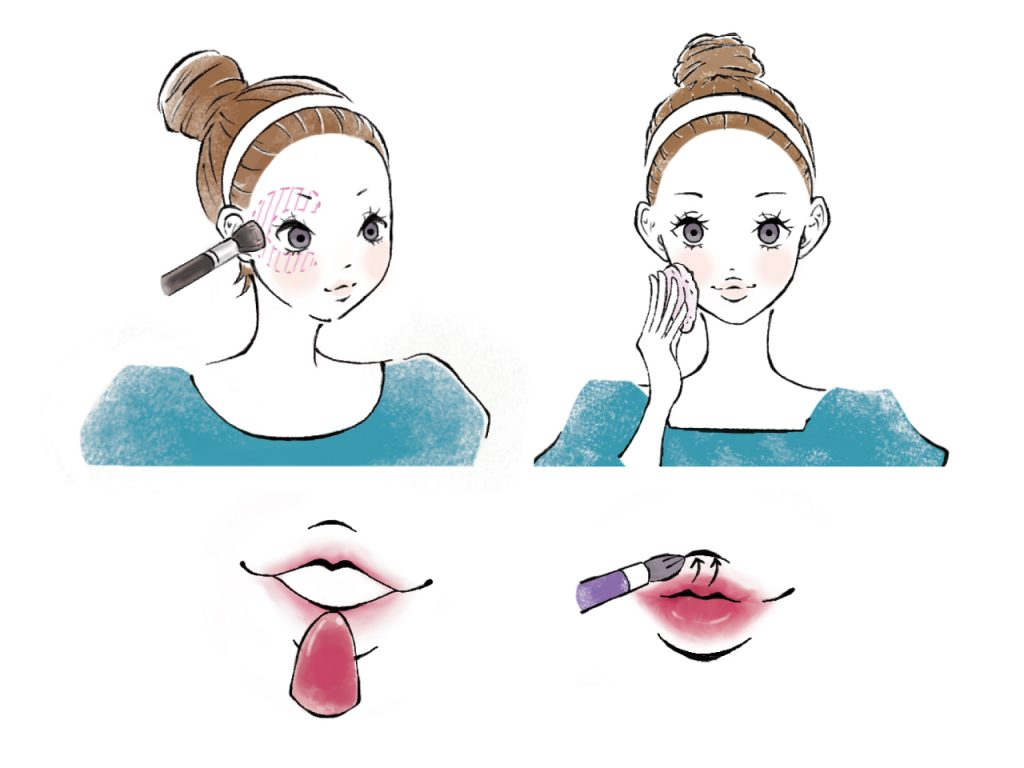 女性美容イラスト