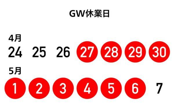 GW休業日